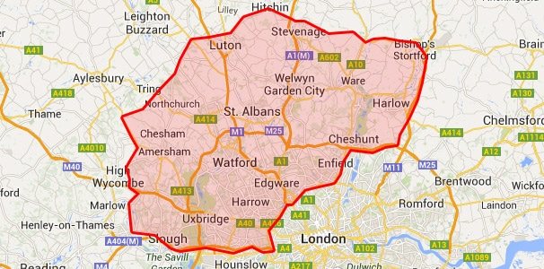 Areas we cover in Romford & Ilford